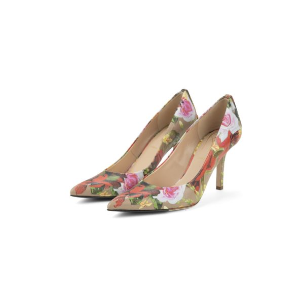 RAYNE FLORAL GOLD BUTTON PUMP