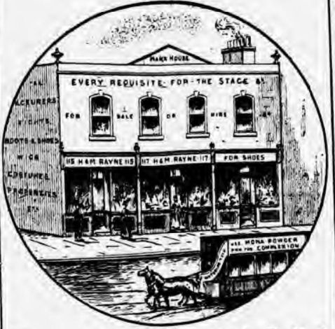 The original Rayne Theatrical Costumier & Stage Shoe Shop & Factory in Waterloo Road in London.
