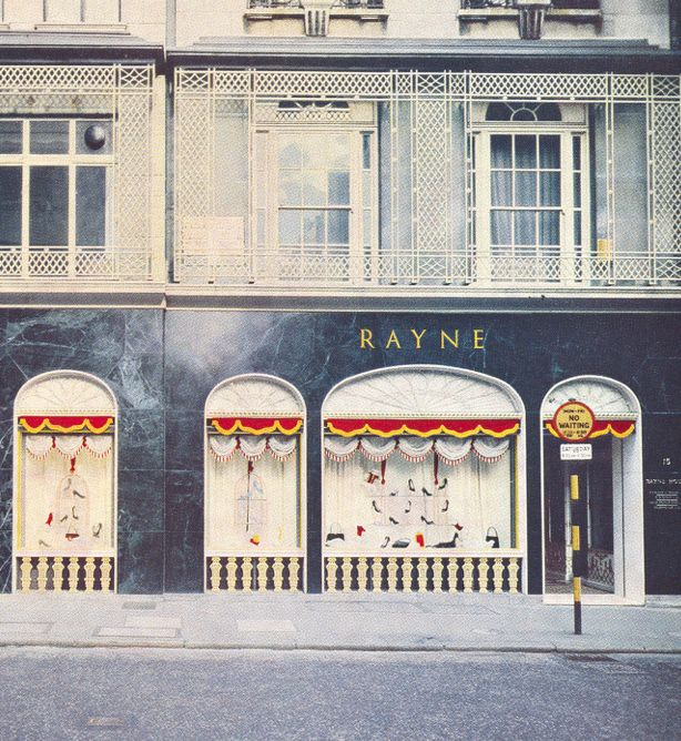 Rayne opens fabled Oliver Messel designed Prettiest Shoe Shop in the World at 15/16 Old Bond Street in London.