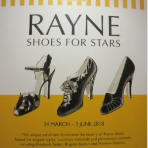 """""""Rayne Shoes for Stars"""" exhibitions are held at the Fashion & Textile Museum in London in 2015"""